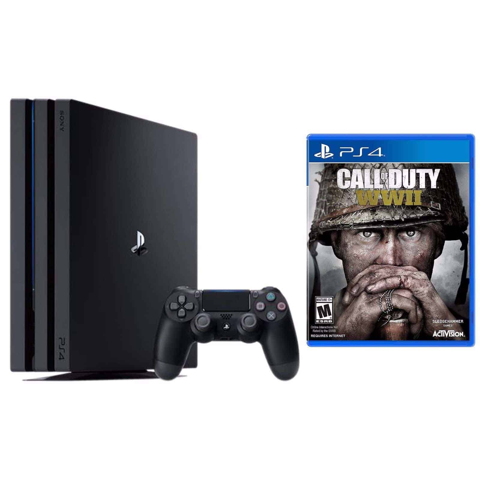 Sony PlayStation 4 Pro 1TB console + Call of Duty: WWII