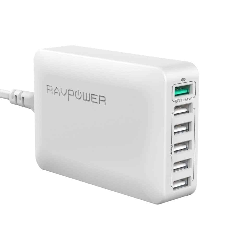 RAVPower 60W 6-Port Fast Charger (November 24, 12:20AM PST - 6:20PM PST)