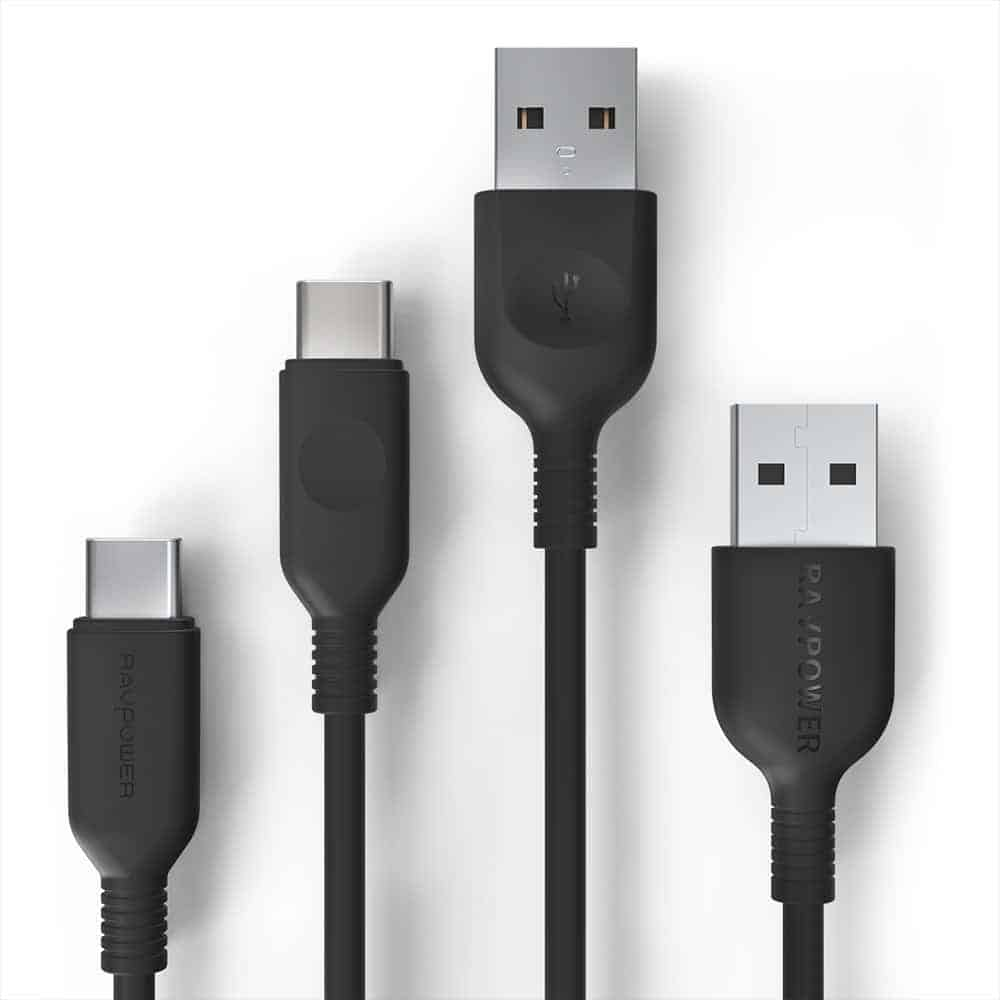 RAVPower 2-Pack USB-A to USB-C / USB-C Charging Cables (November 24, 12:45AM PST - 6:45PM PST)