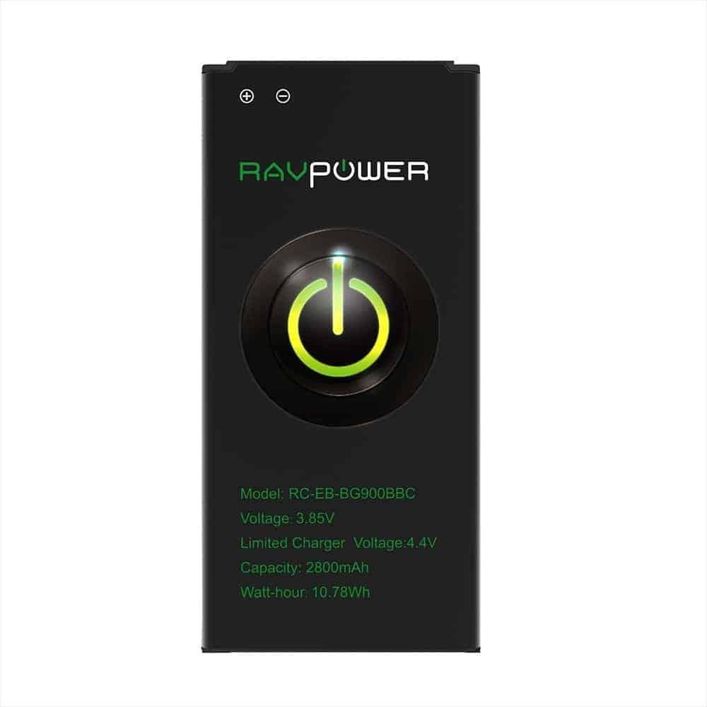 RAVPower Galaxy S5 2,800mAh Replacement Battery (November 24, 11:35AM PST - 5:35PM PST)