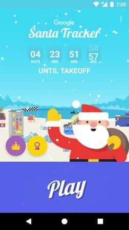 Santa Tracker Google Play Store Screenshot 01