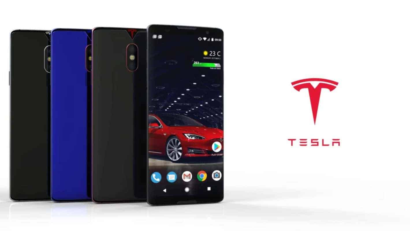 Tesla Phone Concept Appears On YouTube With Dual Cameras