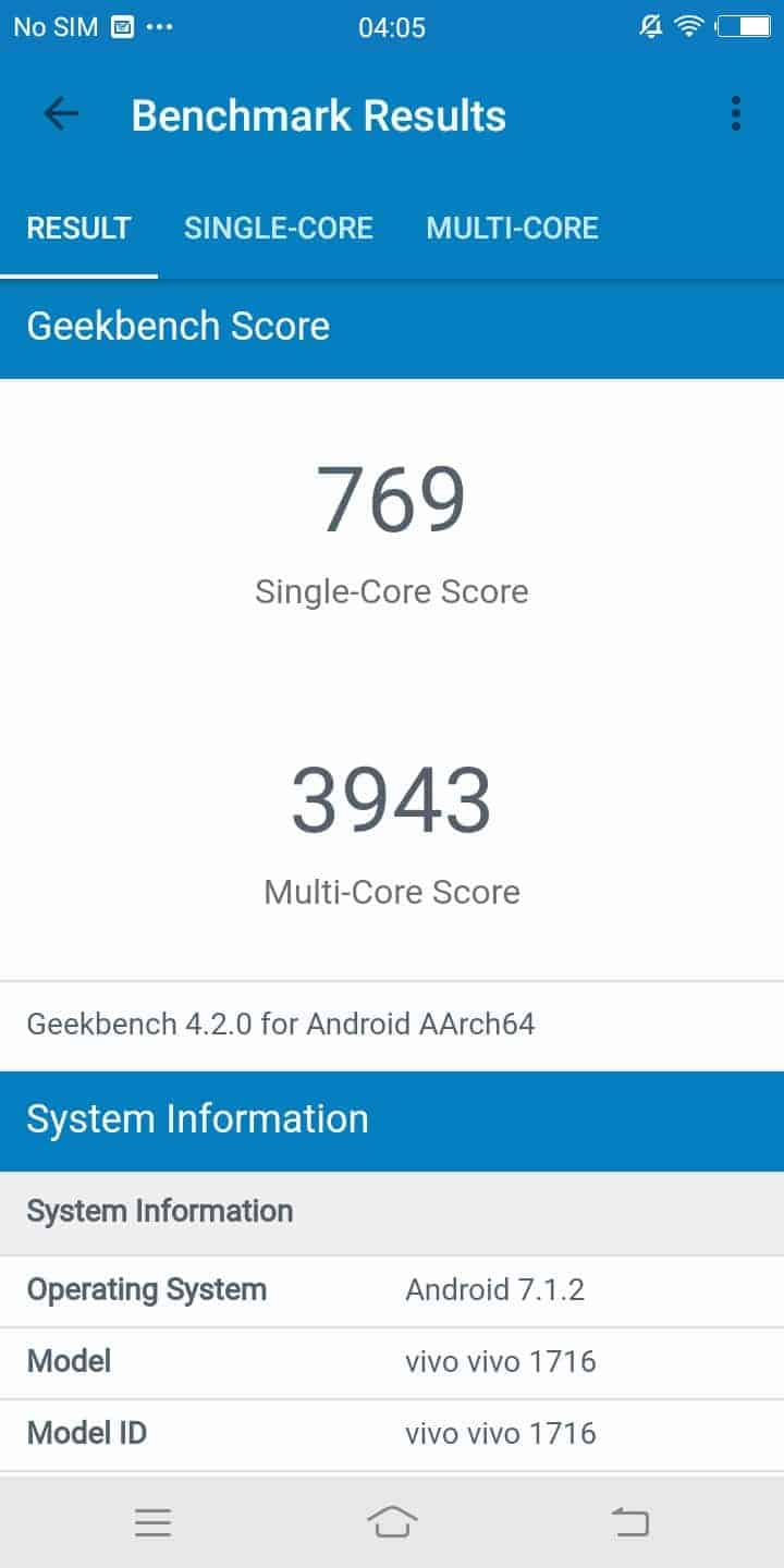 Vivo V7 Benchmarks 4