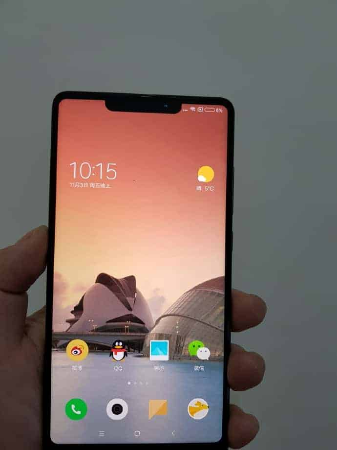 Xiaomi Mi MIX 2s real life leak 2
