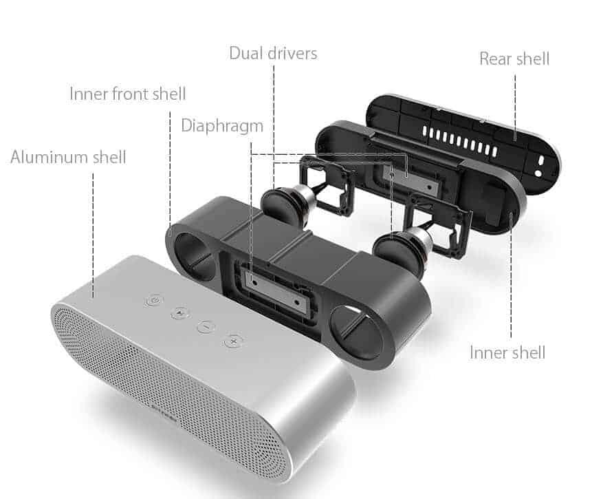 BlitzWolf AS1 Aluminum Shell Bluetooth Speaker Is On Kickstarter