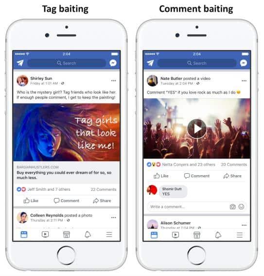Facebook Engagement Bait 2