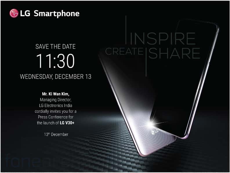 LG-V30-Plus-India-launch-invite-FoneAren