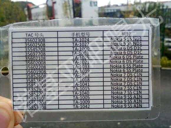 Nokia 5 6 7 9 Model Numbers Baidu