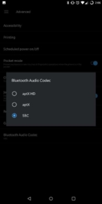 OnePlus 5T AH NS Screenshots sound Bluetooth codec