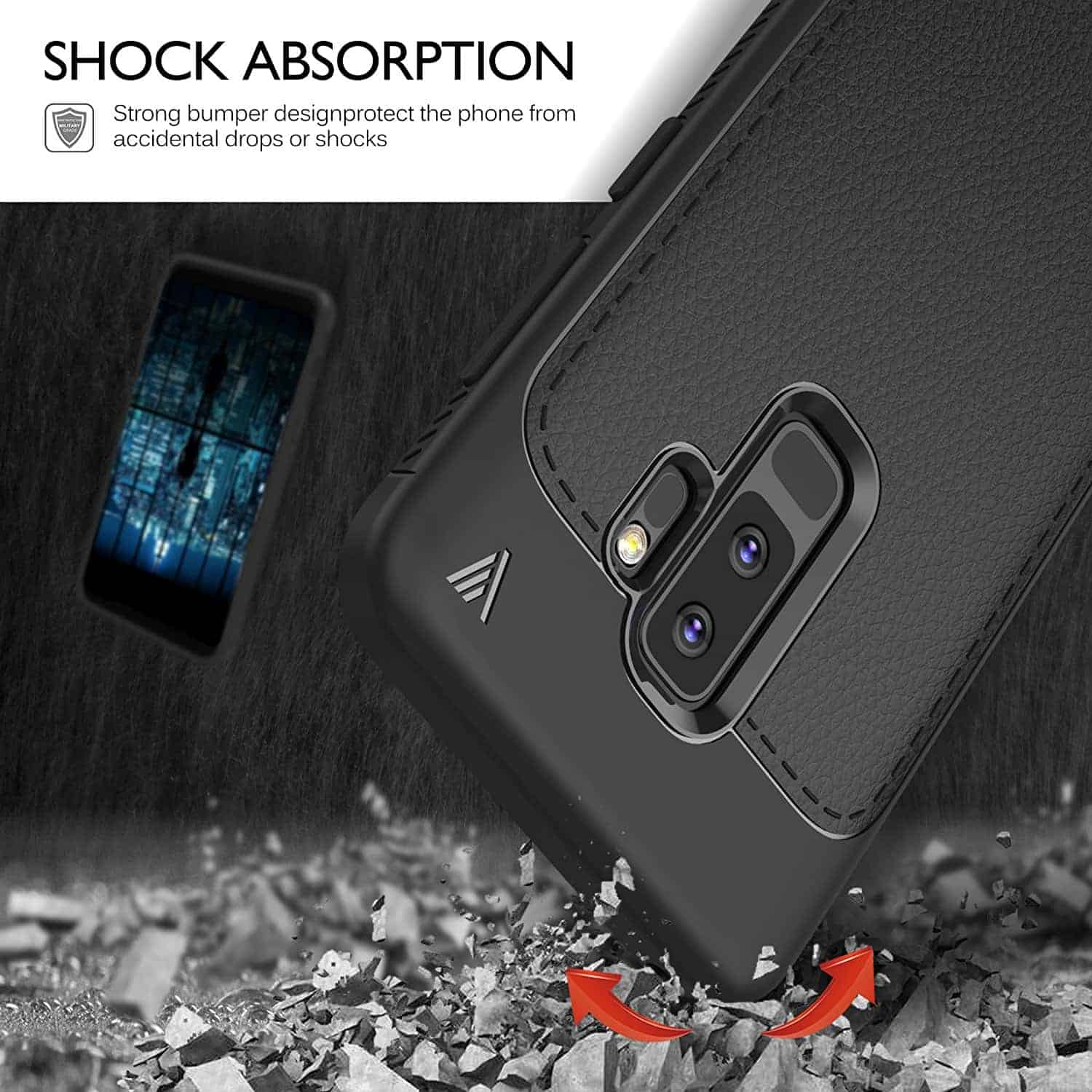 Samsung Galaxy S9 Plus iBetter TPU Ultra Slim Case 3