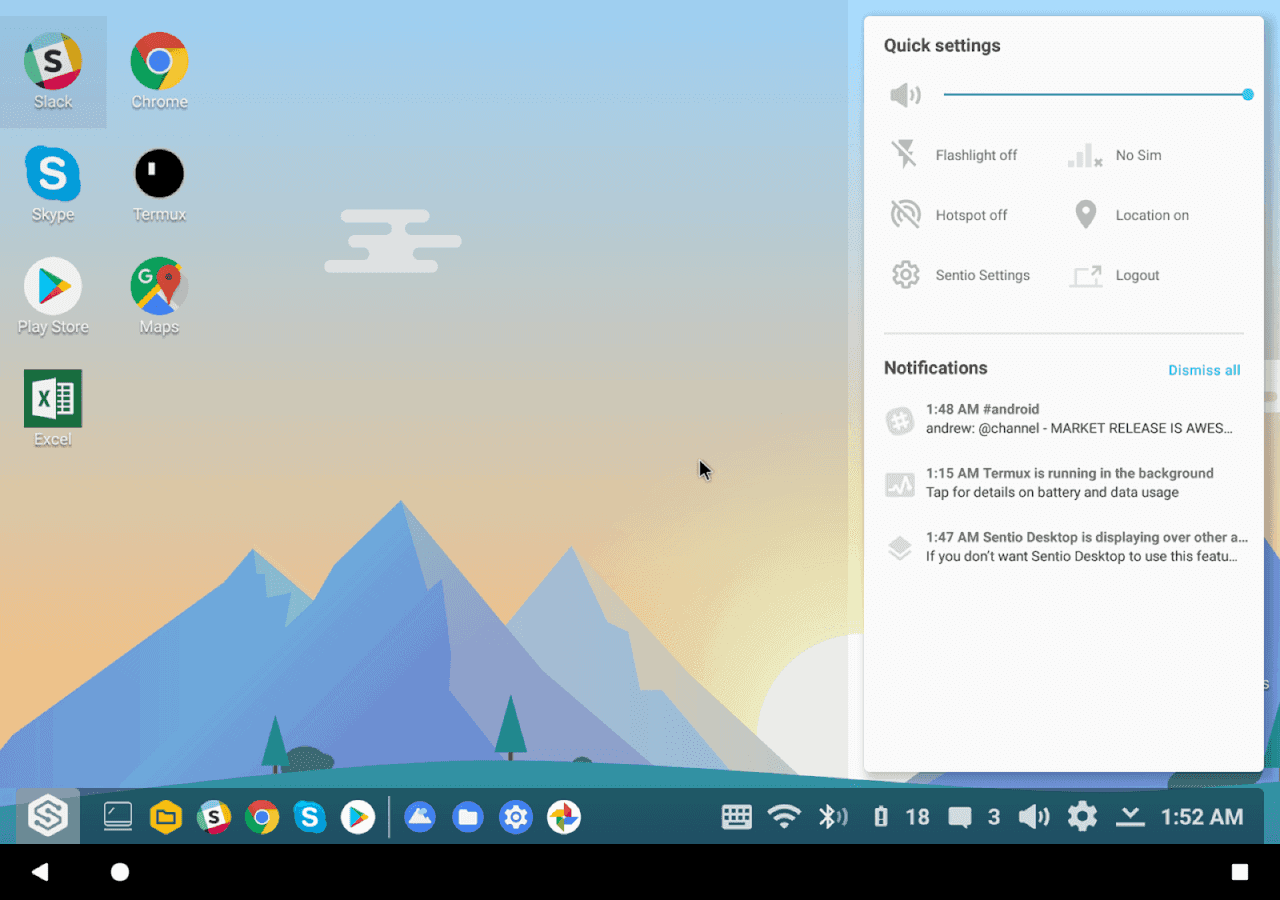 Sentio Desktop 2