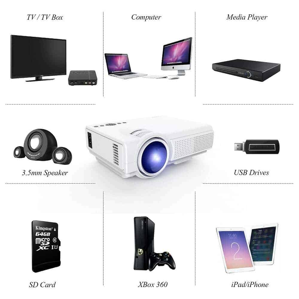 Sponsored deal get the tenker q5 mini projector for 49 for A small projector