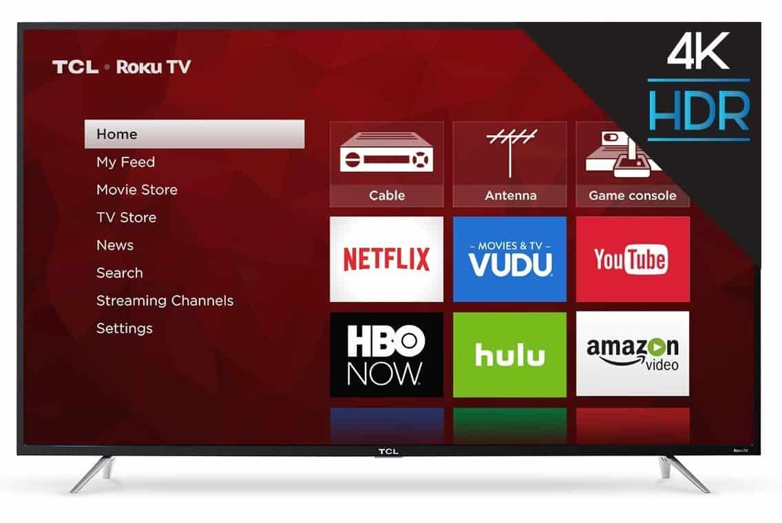TCL 65-Inch 4K Ultra HD Roku Smart LED TV