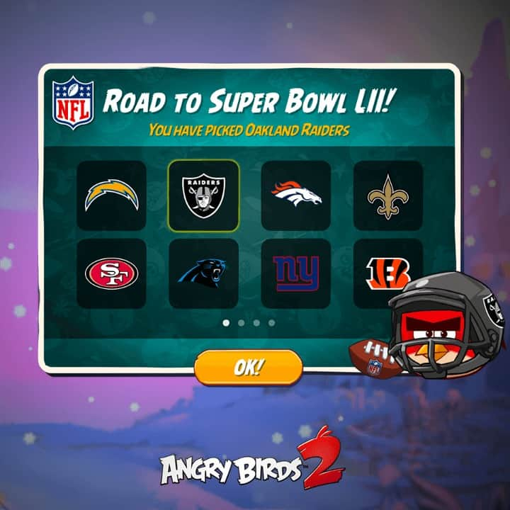 Angry Birds 2 Some Teams NFL preview from ROVIO