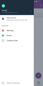 Astro Calendar Select Android