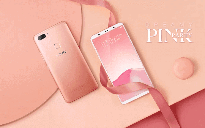 Dreamy Pink Vivo X20 official image 3
