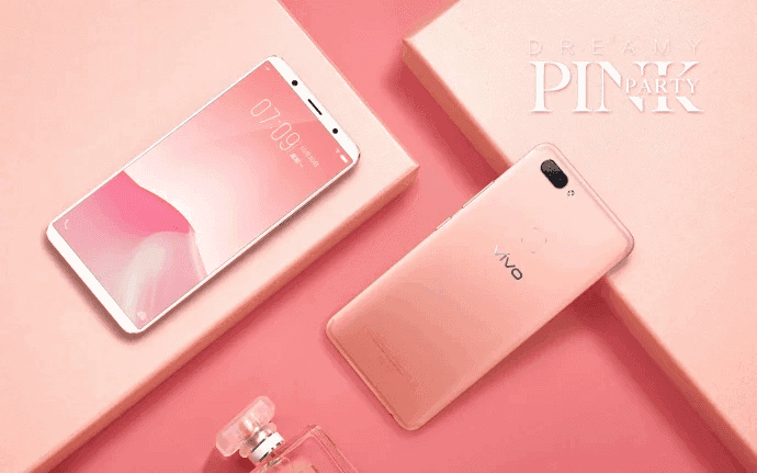 Dreamy Pink Vivo X20 official image 5