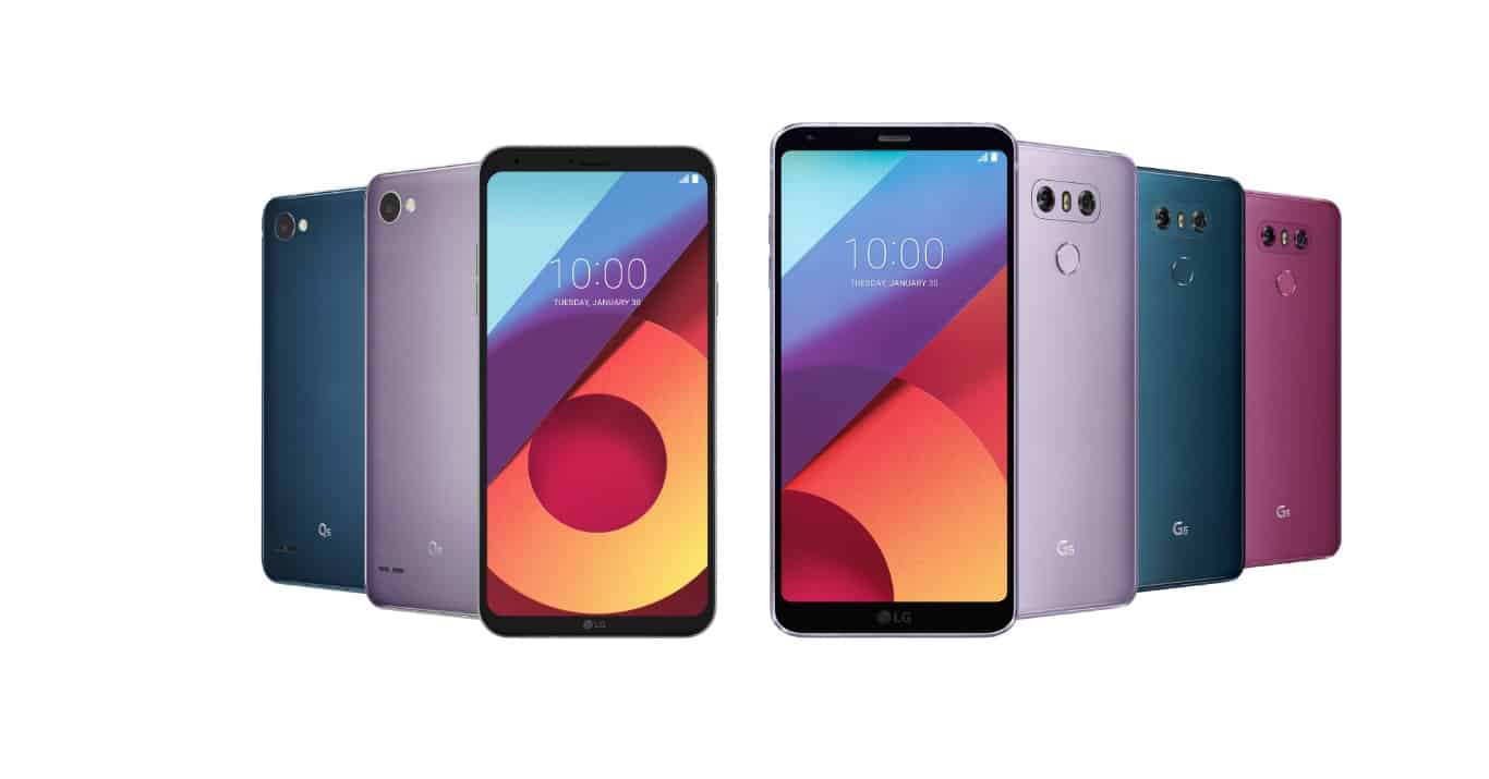 LG G6 and Q6 new colors January 2018 1