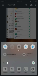 OPPO R11S AH NS Screenshots UI control center