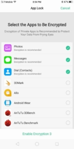 OPPO R11S AH NS Screenshots apps encrypted