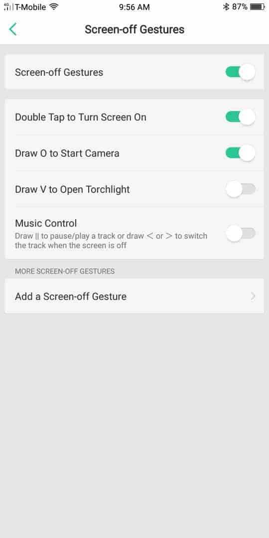 OPPO R11S AH NS Screenshots gestures screen off 2