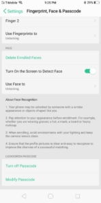 OPPO R11S AH NS Screenshots security face unlock