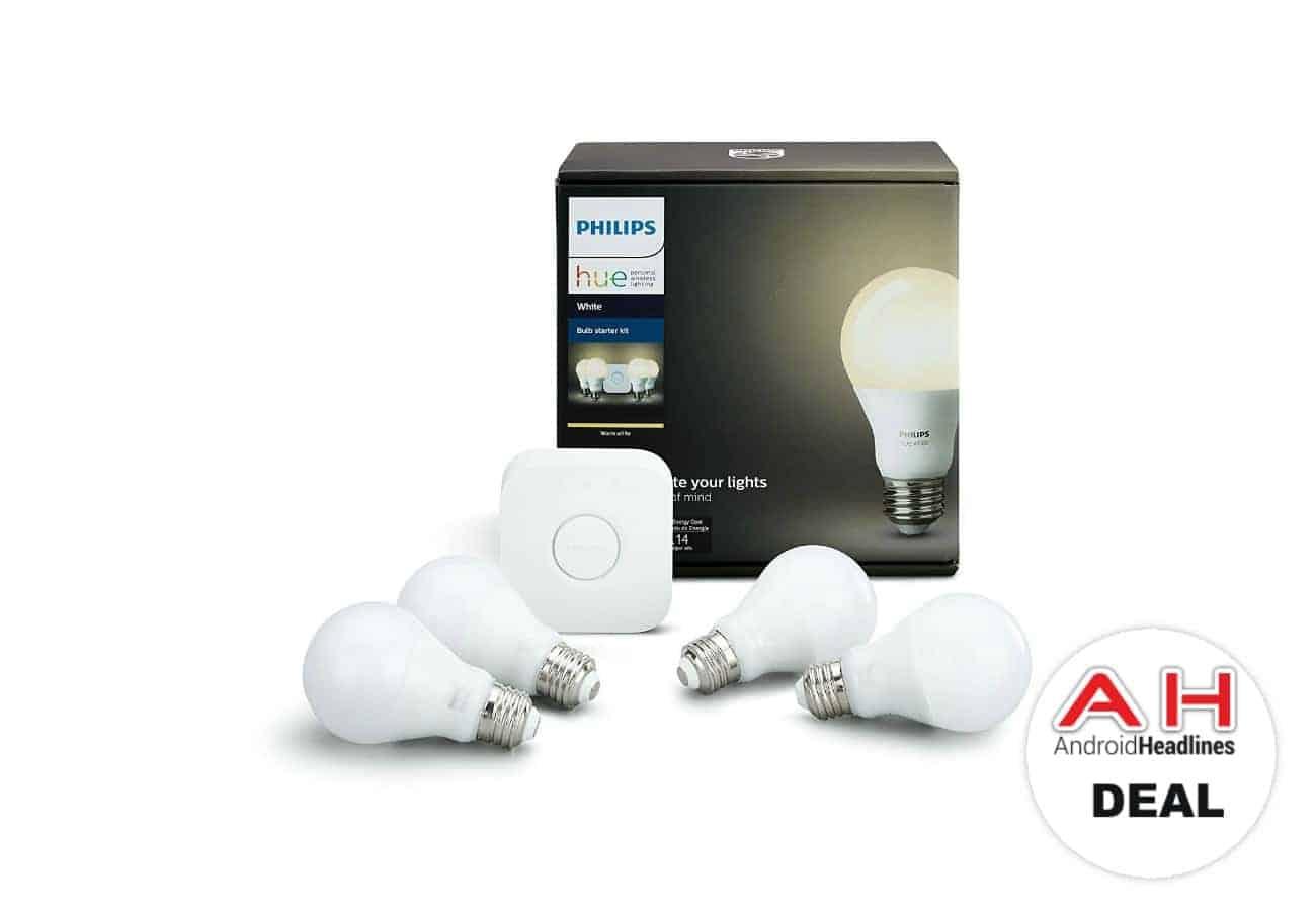 deal philips hue white smart bulb starter kit for 80 01 10 2018. Black Bedroom Furniture Sets. Home Design Ideas