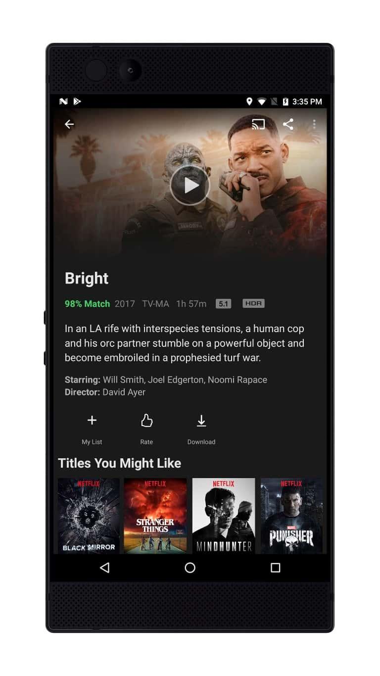 Razer Phone Netflix 2