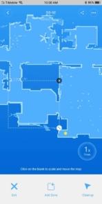 Roborock S50 App zone draw