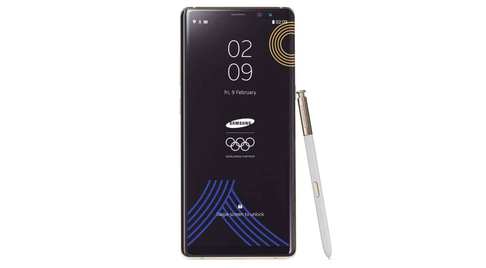 Samsung Galaxy Note 8 2018 Winter Olympics Edition