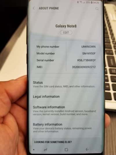 Samsung Galaxy Note 8 Owner Unexpectedly Receives Android 8.0