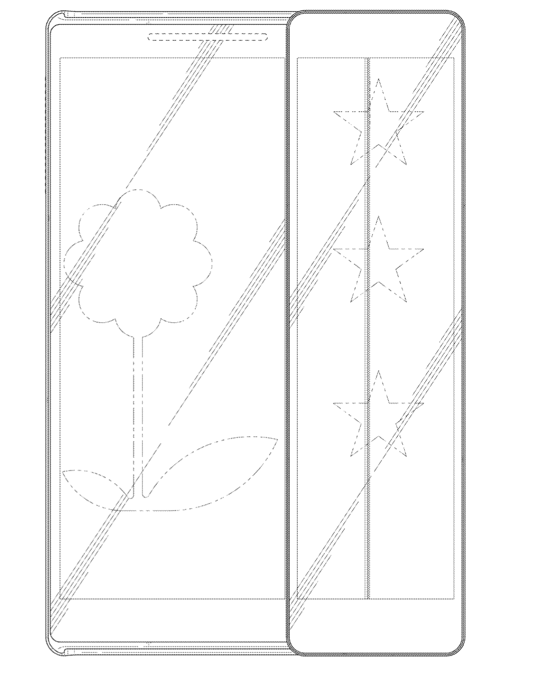 Samsung Patent Sliding Display Phone 1