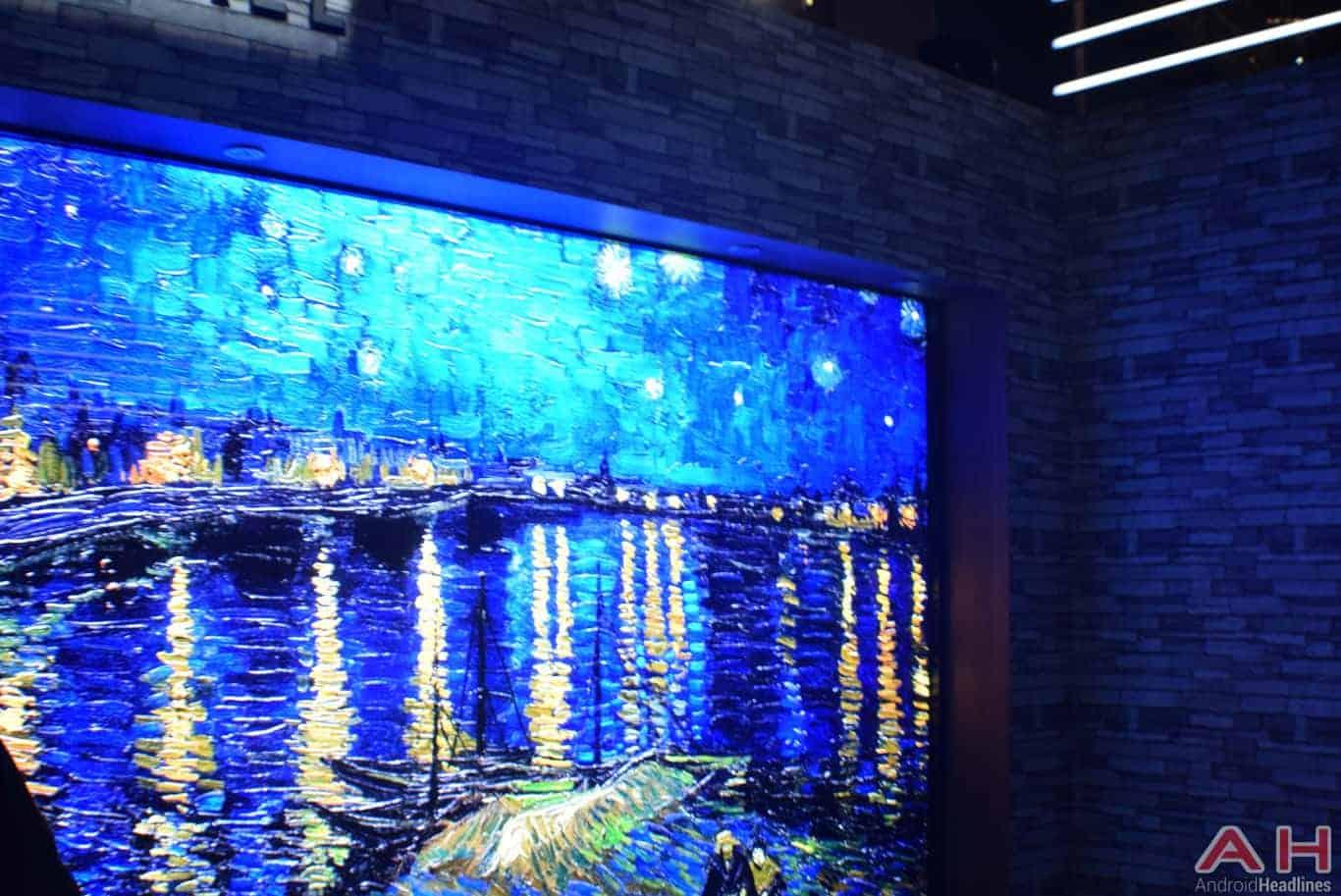 Samsung The Wall Modular MicroLED TV CES 2018 AH 1