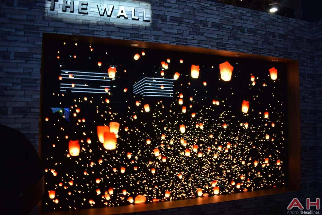Samsung The Wall Modular MicroLED TV CES 2018 AH 10