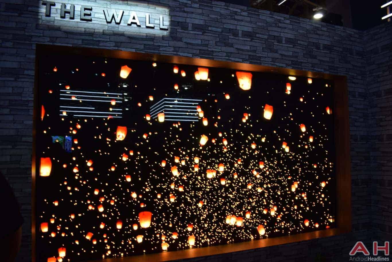 Samsung The Wall Modular MicroLED TV CES 2018 AH 11