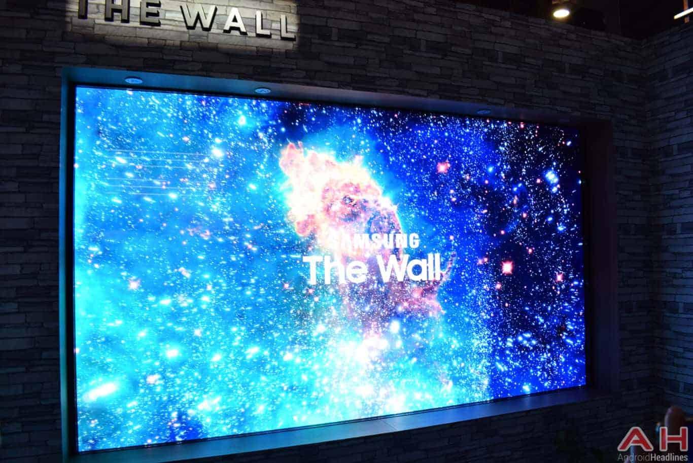 Samsung The Wall Modular MicroLED TV CES 2018 AH 12