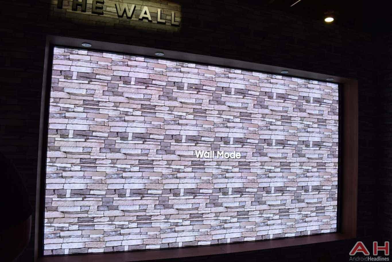 Samsung The Wall Modular MicroLED TV CES 2018 AH 13