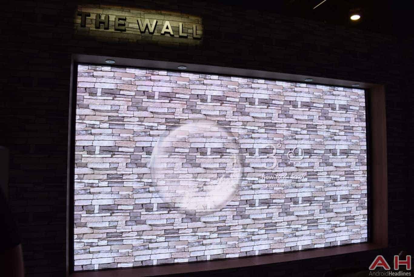 Samsung The Wall Modular MicroLED TV CES 2018 AH 14