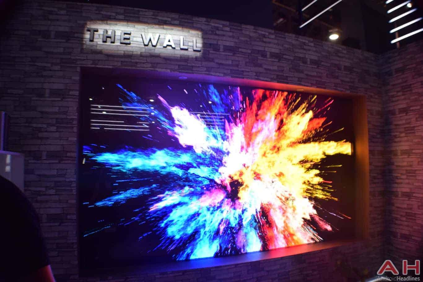 Samsung The Wall Modular MicroLED TV CES 2018 AH 4