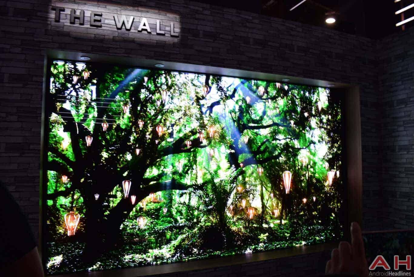 Samsung The Wall Modular MicroLED TV CES 2018 AH 5