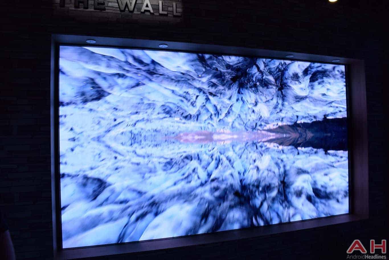 Samsung The Wall Modular MicroLED TV CES 2018 AH 8