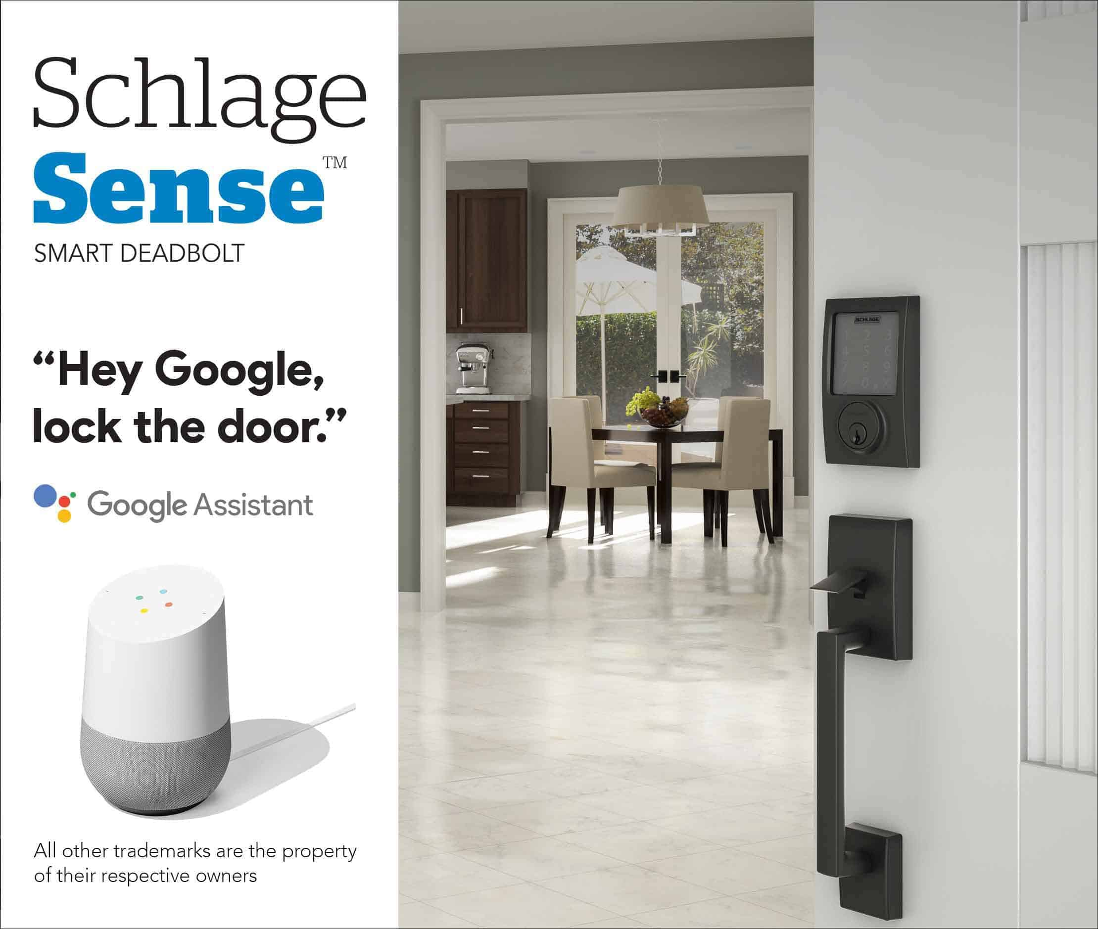 Schlage Smart Sense Google Assistant 2