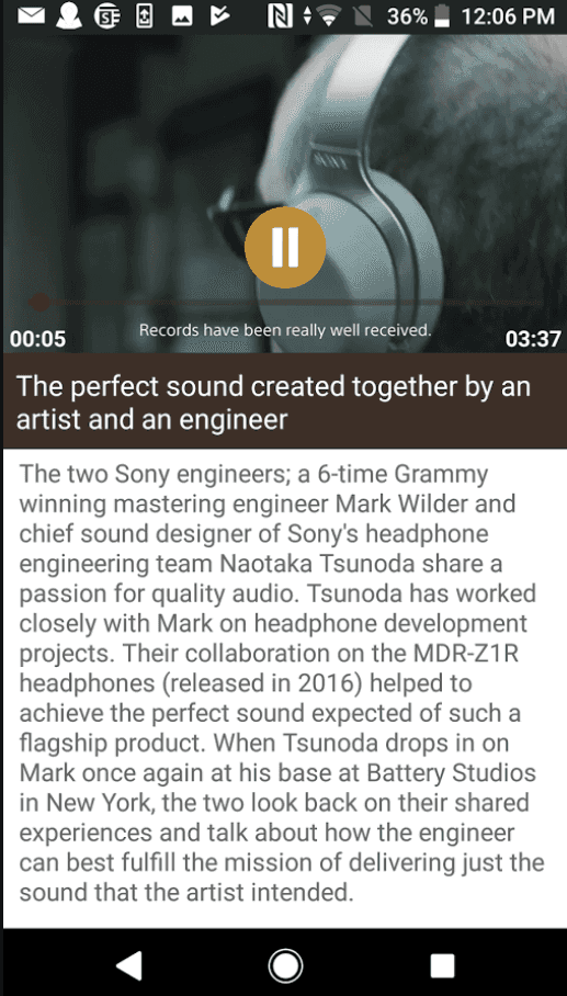 Sony Events app 2