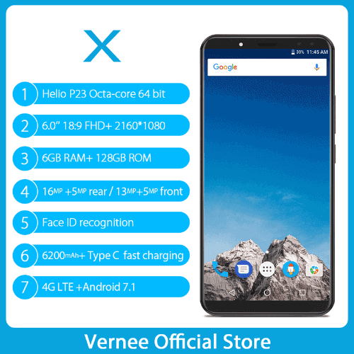 Vernee X 4GB RAM official image 6
