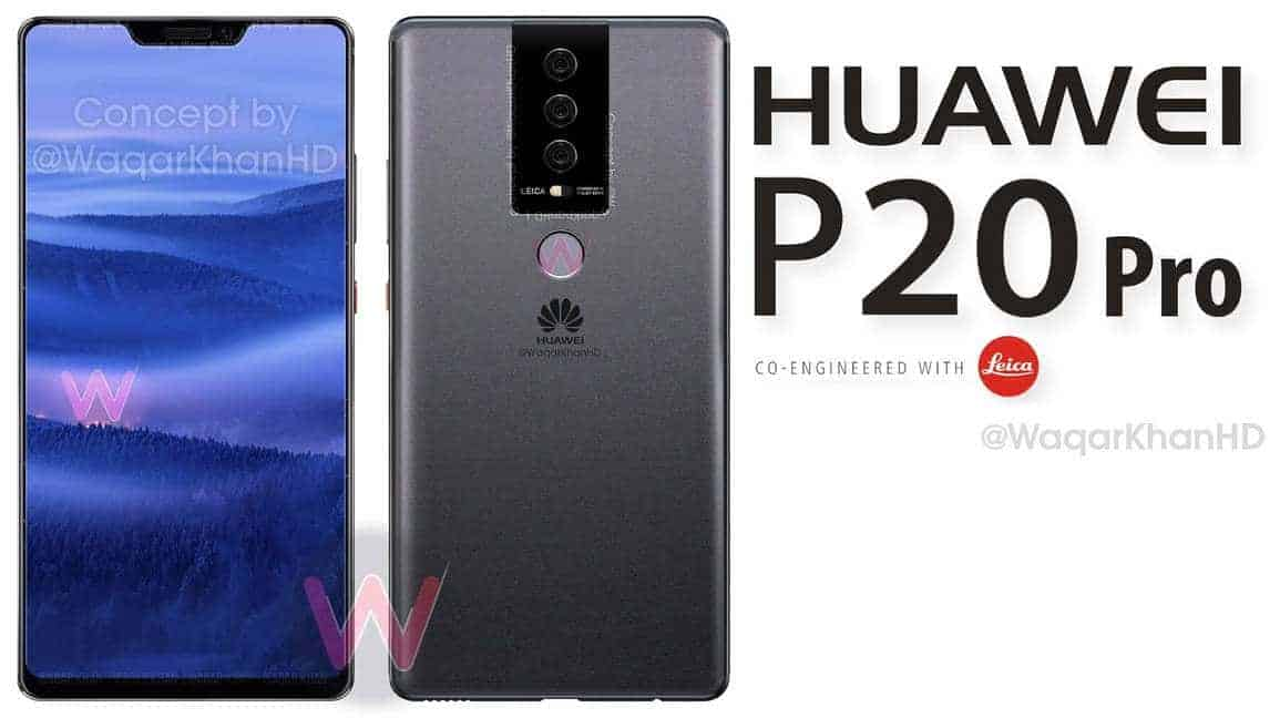 Huawei P20 Concept Renders Surface Based On Schematic
