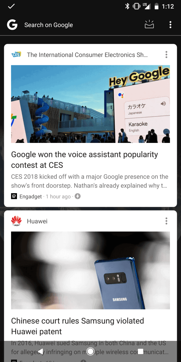 google feed pixel 2