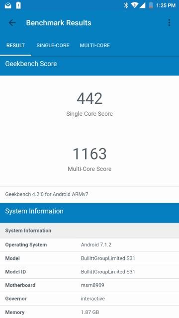 CAT S31 AH NS Screenshots benchmarks 03