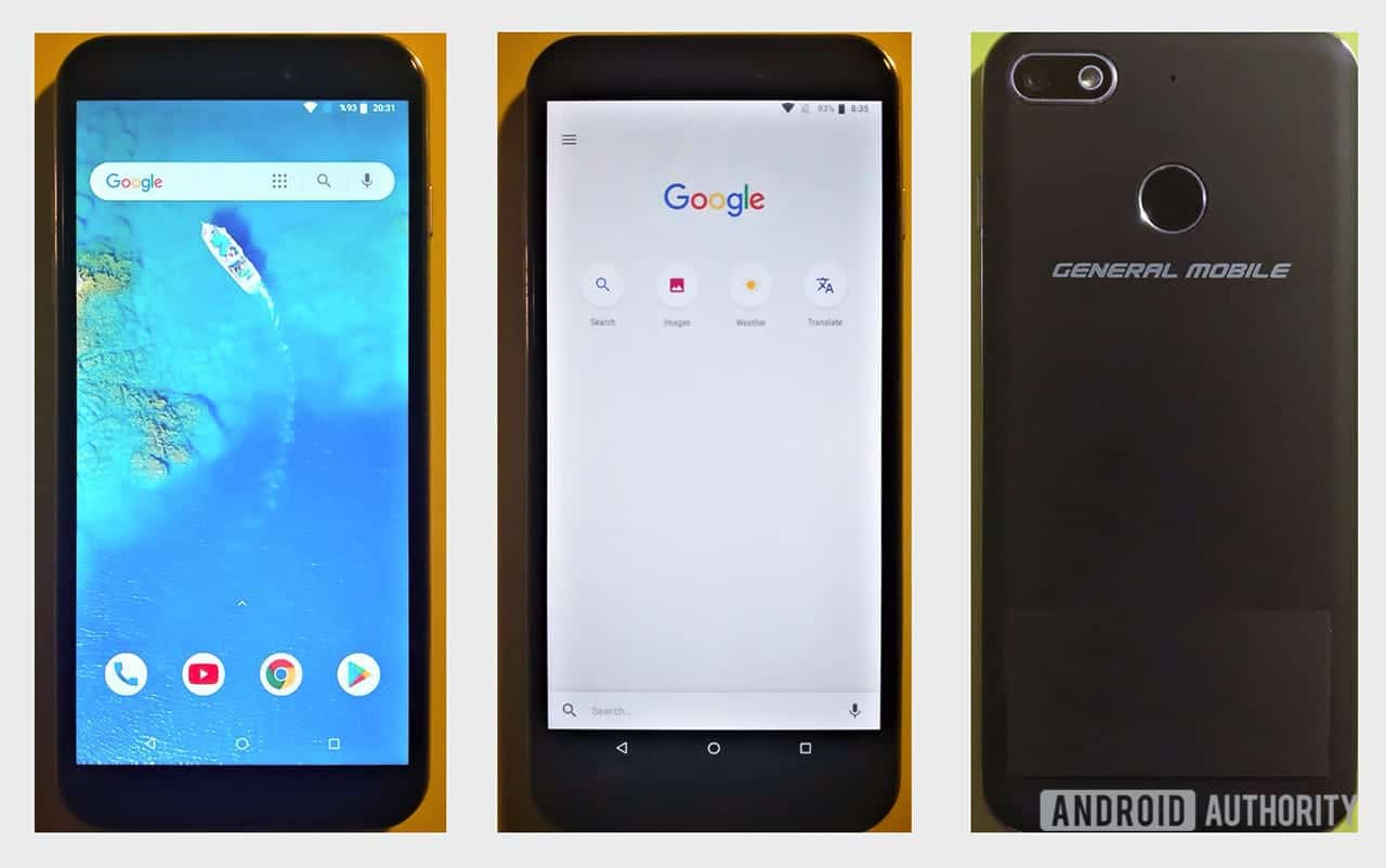 General Mobile GM 8 Go Android Go AA 1