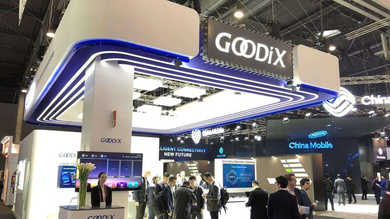 Goodix booth 1E70 MWC 2018 cropped from Goodix