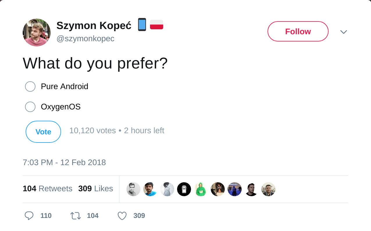 Kope%C4%87 Trolls Xiaomi with a Twitter Poll from Twitter